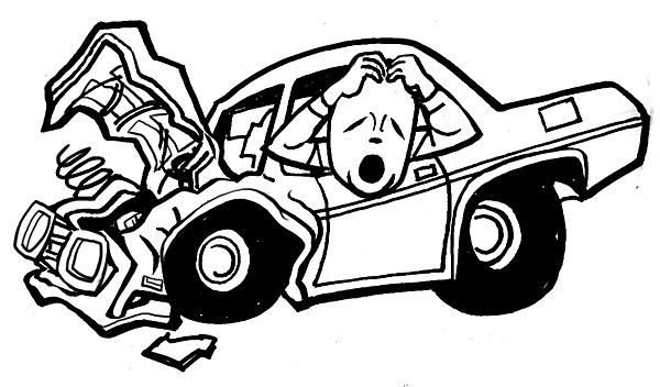 damaged car clipart - photo #6
